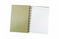 Old spiral notebook Royalty Free Stock Photo