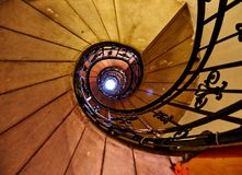 Old Spiral of staircase Royalty Free Stock Photo