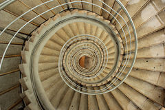 Old spiral staircase. In tower Stock Images