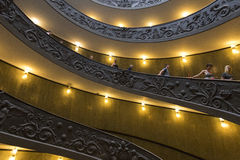 Old spiral stairs in the Vatican Museums Royalty Free Stock Images