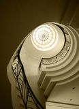 Old spiral stairway case Royalty Free Stock Photography