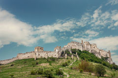 Old Spiss Castle in Slovakia Stock Image