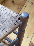 Old Split Bark Caning on a Chair Seat Royalty Free Stock Photography