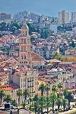 Old Split city center vertical view Stock Image