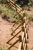 An Old Split Rail Fence in Desert Stock Image