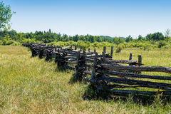 Old split-rail fence Stock Images