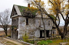 Old spooky abandoned house Stock Photo