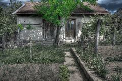 Old spooky house - HDR Royalty Free Stock Photography
