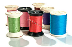 Old Spool of thread Stock Photos