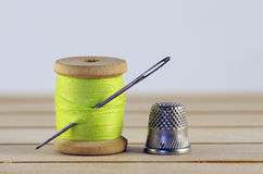 Old spool of thread Royalty Free Stock Image