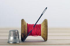 Old spool of thread Royalty Free Stock Photos