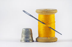 Old spool of thread Royalty Free Stock Photography