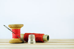 Old spool of thread Royalty Free Stock Photo