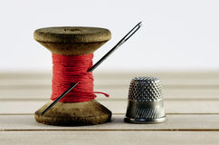 Old spool of thread Royalty Free Stock Images