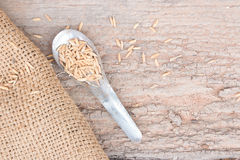 Old spoon with wooden. Stock Image