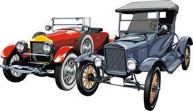 Old sport cars (my original design) Stock Photo