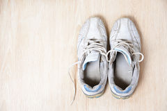 Old sport shoes Royalty Free Stock Photo