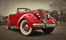 Old sports car. The exhibition of old cars in the city of Yaroslavl, Russia Stock Photography