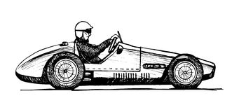Old sports car royalty free illustration
