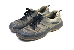 Old sports shoes. Royalty Free Stock Photos