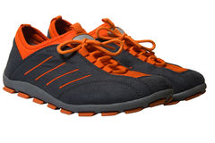 Old sports shoes stock photos