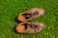 Old sports shoes Royalty Free Stock Images