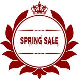 Old SPRING SALE red seal. Illustration graphic image concept Stock Photos
