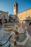 Old square of bergamo royalty free stock image