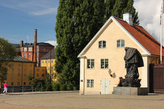 The old square and factories. Norrkoping. Sweden Royalty Free Stock Photos