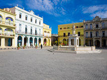 The Old Square in Havana, Cuba Royalty Free Stock Photos
