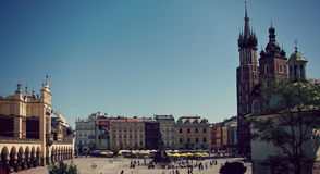 The Old Square in Krakow, Poland Royalty Free Stock Images