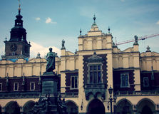 The Old Square in Krakow, Poland Stock Images