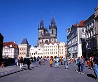 The Old Square, Prague. Royalty Free Stock Photography