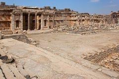 Old square of roman ruins of Baalbek, Lebanon. Heliopolis. Royalty Free Stock Photo