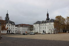 Old square in Saarbrucken Royalty Free Stock Images