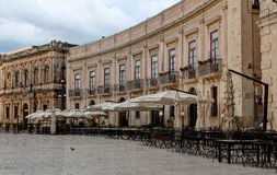 Old Square, Syracuse, Sicily, Italy Stock Images