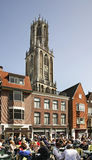 Old square in Utrecht. Netherlands Stock Images
