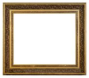 Old vintage golden frame on a white background. Old square vintage golden frame on a white background, isolated Stock Images