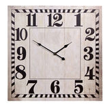Old square wall clock Royalty Free Stock Photo