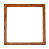 Old square wooden frame cutout Stock Photography