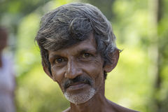 Old Sri Lankan beggar man Stock Image