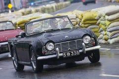 Old Srilankan English car slow Royalty Free Stock Images