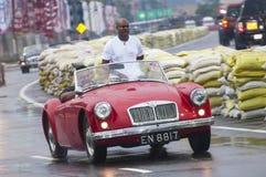 Old Srilankan English car slow Royalty Free Stock Image