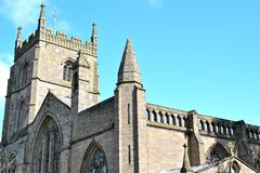Old St. Peter & St. Pauls priory church in Leominster Royalty Free Stock Photo