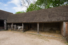 Old stable. Ancient stable and bacyard of the old British farm Stock Photo