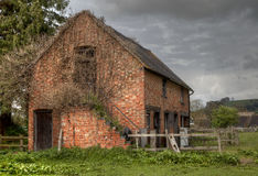 Old stable, England. Traditional brick and tile stable block, Gloucestershire, England Stock Photo