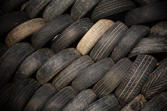 old stack tires for textured background Royalty Free Stock Photo