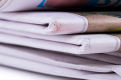 Old Stacked Newspapers Stock Image