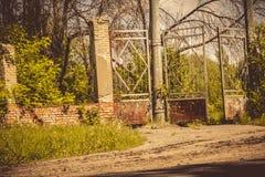 Old Stadium Gate Retro Stock Photo