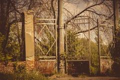 Old Stadium Gate Retro Royalty Free Stock Photo